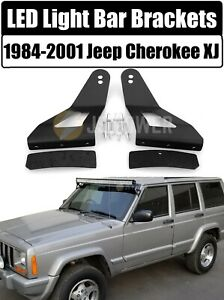 Led Mounting Brackets 52 Or 50 Curved Light Bar For 1984 2001 Jeep Cherokee Xj
