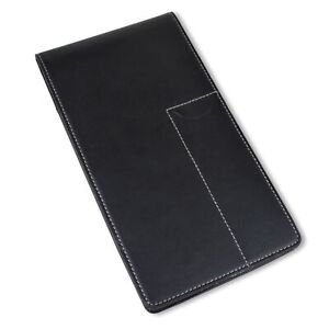 Reporter s Notebook Cover And Holder For Extra Stability 4 X 8 Black Leather