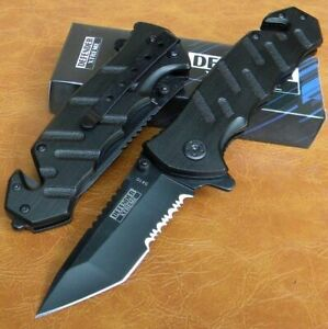 TACTICAL TANTO POINT BLADE Spring Assisted Rescue P Knife 5410 $10.75