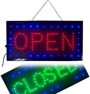 Ultra Bright Led 2 In 1 Open Closed Sign Business Signs For Drink Food Restaura