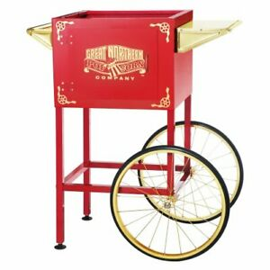 6400 Red Cart For Larger Roosevelt Style Great Northern Popcorn Machines