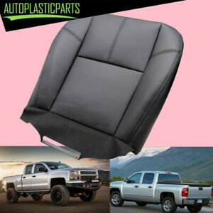 For 2007 2013 Chevy Silverado 1500 2500 Driver Bottom Leather Seat Cover Black