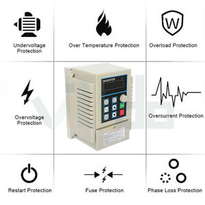 Variable Frequency Driver Interver Vfd Single To 3 Phase Output 1hp 220v 0 75kw