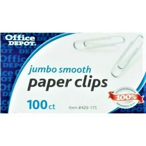 100 Office Depot Jumbo Paper Clips Large Clips 100 box 1 5 Inch