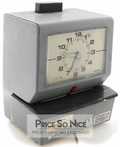 Vintage Amano Model 3533 Wall Mount Punch Card Time Clock Without Key