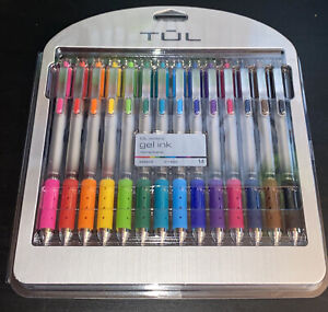Tul Retractable Gel Pens Brights 0 7 Mm Assorted Ink Colors 14 pack New