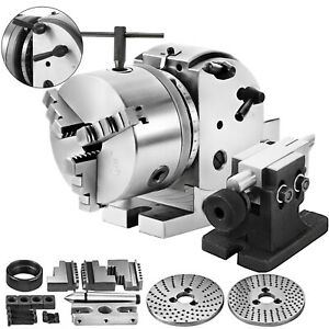 Bs 0 Precision Dividing Head With 5 3 jaw Chuck Tailstock For Cnc Milling