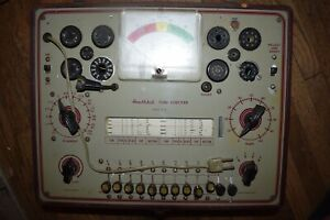 Vintage Used Heathkit Tc 2 Tube Tester Parts Or Repair Only
