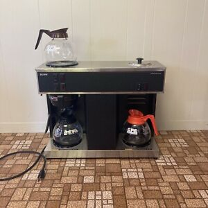 Bunn Vps 12 cup Pourover Commercial Coffee Brewer Maker With 3 Warmers 3 Pots