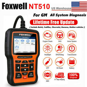Foxwell Nt510 Elite For Gm Oil Service Epb Reset Tool Diagnostic Obd2 Scanner