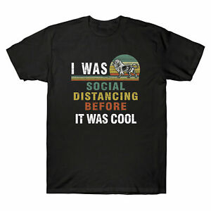 I Was Social Distancing Before It Was Cool Vintage Tee Retro Cotton T shirt