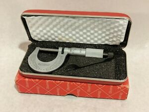 Starrett No 230 Micrometer 0 1 0001 With Case And Box