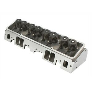 Flo Tek Sbc 350 Chevy Aluminum Assembled 64cc Cylinder Head With Studs Guideplates