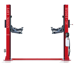 Aston 2 Post Car Lift 10000lb Two Post Auto Single Point Lock Release High End