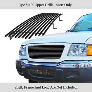 Fits 2001 2003 Ford Ranger Xlt Xl 2wd Shell Closed Main Stainless Black Grille