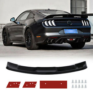 Fit 2015 2020 Ford Mustang Gt500 Trunk Spoiler Wing Lip Glossy Black 1 Set Fits Mustang