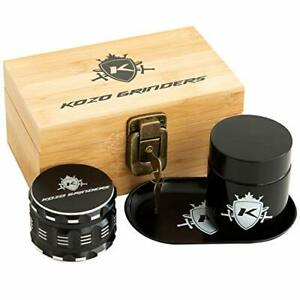 Wood Stash Box Combo Kit With Aluminium 2 5 Herb Grinder Small Wooden