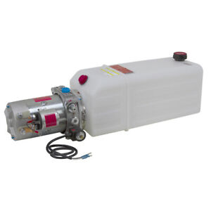 12 Volt Dc Hydraulic Power Pack For Single Acting Cylinder 9 12513