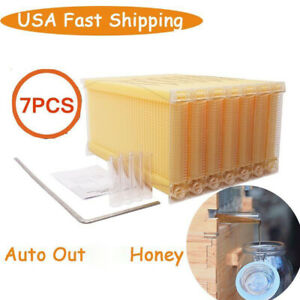 7pcs Upgraded Hive Frames Honey Beehive Frames Beekeeping Wooden Boxes Usa