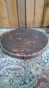 Antique Early Wood Large Pantry Box Lid Orig Red Paint Make Do Riser 19 Sq Nail