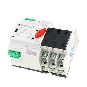W2r 3p Din Rail Mounted Automatic Transfer Switch Three Phase Ats W2r 3p 100a
