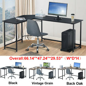 Modern L shaped Computer Desk Home Office Workstation Laptop Study Writing Table