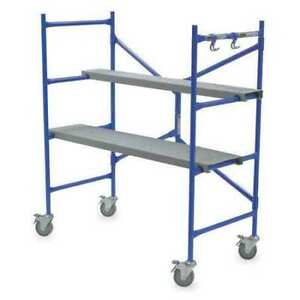 Werner Ps 48 Portable Scaffold Aluminum 500 Lb Load Capacity 3 Ft 8 In
