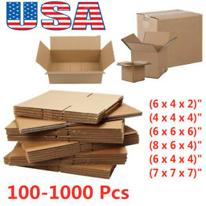 100 1000 Premium Cardboard Paper Boxes Mailing Packing Shipping Box 8x6x4 6x4x4