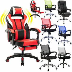 Ergonomic Office Chair Executive Computer Desk Seat Leather Gamingchair Footrest