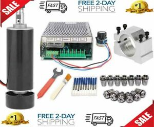 Cnc Spindle Kit 500w Air Cooled 0 5kw Milling Motor Spindle Speed Power Conver