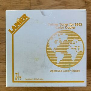 Lanier Yellow Toner For 5603 Color Copier 117 0229 new In Box