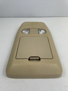 04 08 Ford F 150 Overhead Console W Map Lights Storage 1pc Oem Light Parchment