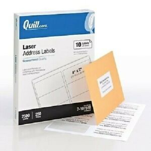 Quill Laser Address Labels 4 X 2 250 Sheets 2500 Labels