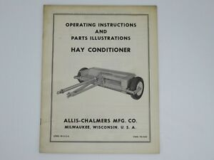 Allis chalmers Hay Conditioner Operating Instructions Form Tm 244b
