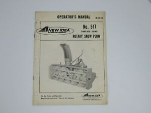New Idea 3 Point Hitch 86 Inch Rotary Snow Blower No 517