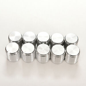 10x Aluminum Knobs Rotary Switch Potentiometer Volume Control Pointer Hole 6m_fd