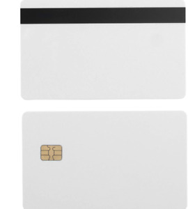 10 Pack Sle4442 Plastic Blank Chip Card Credit With Hi Co Hico Magnetic Stripe