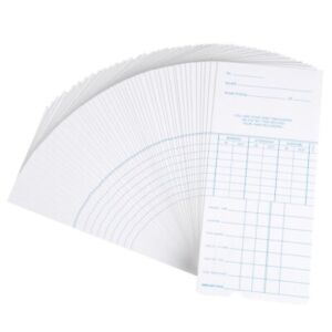 50x Weekly Time Clock Cards Timecard For Employee Attendance Payroll Recorder