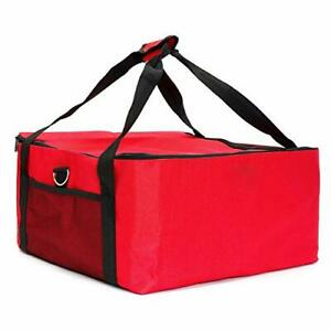 Pizza Delivery Bag 16 Inch Food Delivery Bag Insulated Aluminium Foil Red