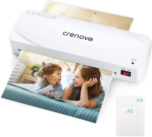 Laminator Crenova A4 9 Inches Thermal 20 Laminating Pouches Home School Office