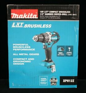 ma2 Makita Xph12z 18v Lxt Compact Brushless 1 2 Hammer Driver drill new
