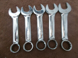 Gearwrench Combination Non Ratcheting Stubby Wrench Set 15 16 17 18 19mm