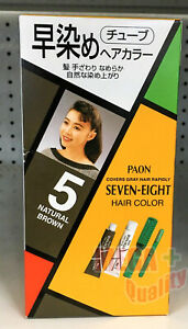 PAON SEVEN EIGHT Hair Dye Color Cream Fast Cover Grey Coverage #5 Natural Brown $16.09