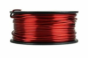 Temco 13 Awg Copper Magnet Wire 1 5 Lb 94 Ft 155 c Magnetic Coil Red