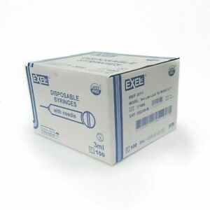 Exel Luer lock 3ml 3cc 25g X 1 In 26111 pack Of 100