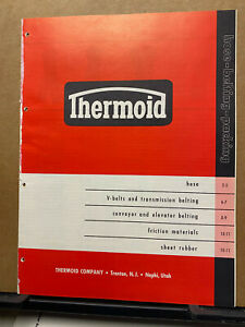 Thermoid Co Catalog Asbestos Thermoglas Belting Hoses Friction Materials 1959