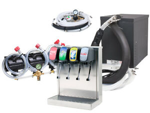 4 Flavor Home Soda Fountain System Tower New Compact Remote Chiller