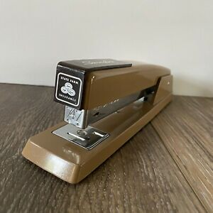 Vintage Swingline State Farm 747 Stapler 94 41 Made In Usa 8 Tan Brown Office