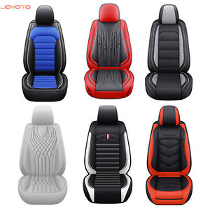 Car Seat Covers Pu Leather 5 Seat Universal Fit Full Coverage Cushion Cover