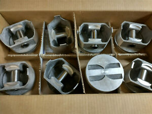 L2165f Standard Bore 327 Chevy Forged Pistons Flat Tops